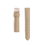 Light brown leather strap - rose gold buckle