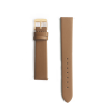 Brown leather watch strap - gold buckle