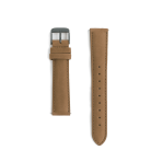 Brown leather strap - black buckle