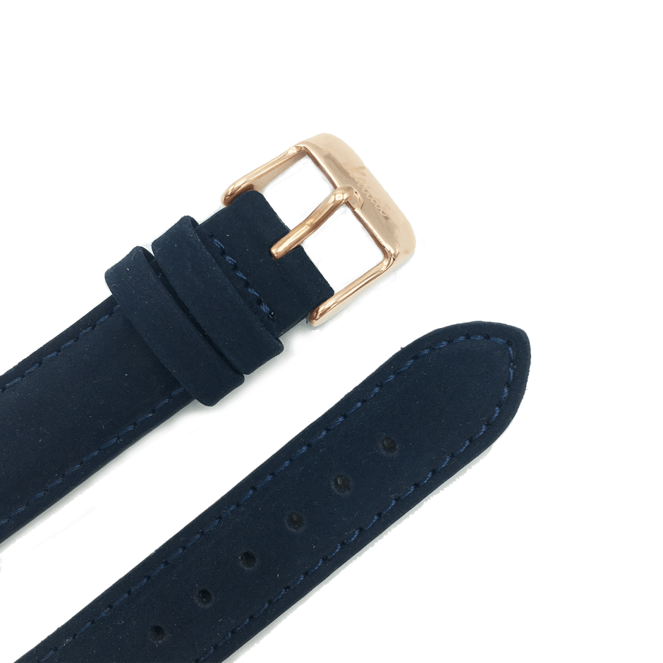 Blue leather strap - black buckle
