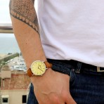 Yellow dial watch