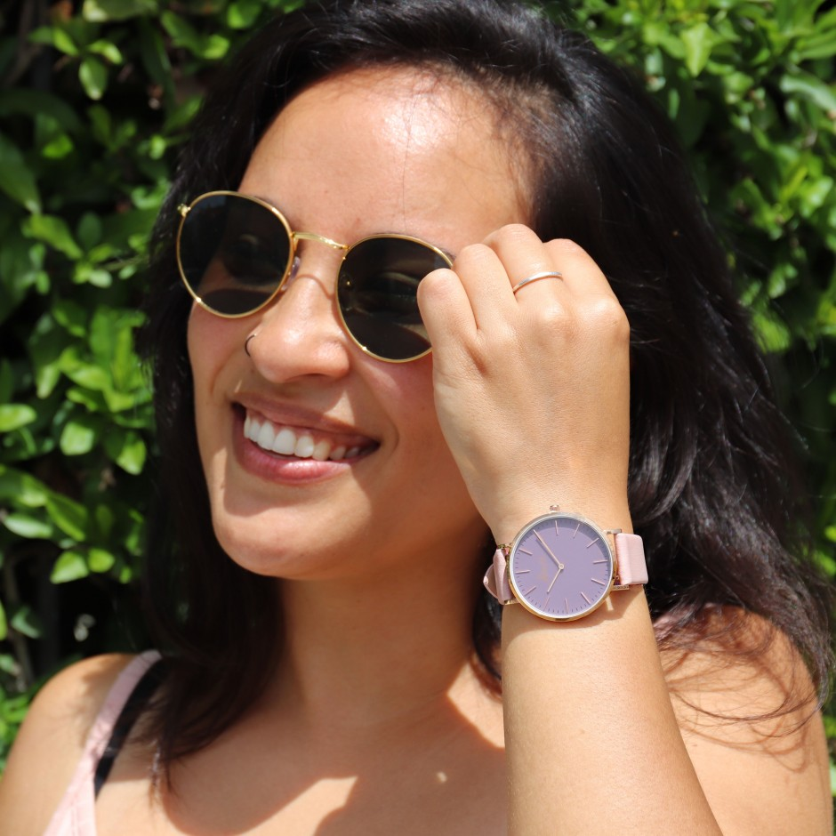 Purple and pink watch